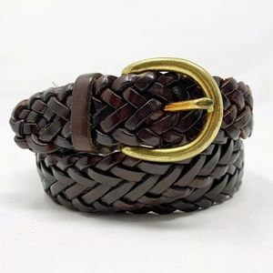 COACH Mens Braided Leather Belt size  34 35